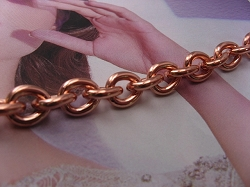 Ladies 8 1/2 Inch Solid Copper Bracelet CB715G  - 5/16 of an inch wide