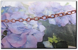 22 Inch Length Solid Copper Chain CN612G -  1/8 of an inch wide