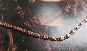 22 inch Length Solid Copper Chain CN620G - 1/8 of an inch wide