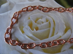 22 Inch Length Solid Copper Chain CN627G -  3/16 of an inch wide.
