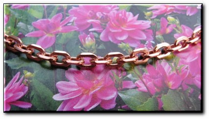 Solid Copper Anklet CA678G - 3/16 of an inch wide - Available in 8 to 12 inch lengths