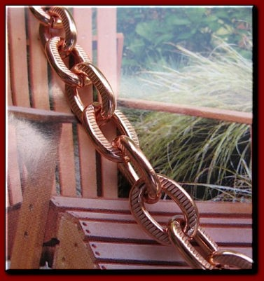 Men's 8 Inch Solid Copper Bracelet CB683G  - 3/8 of an inch wide
