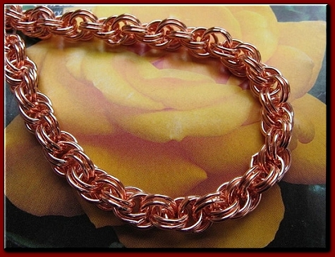 24 Inch Length Solid Copper Chain CN686G -  5/16 of an inch wide