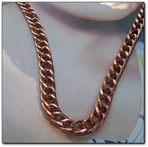 22 inch Length Solid Copper Chain CN699G - 1/4 of an inch wide