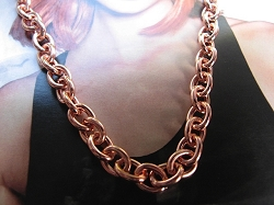 24 Inch Length Solid Copper Chain CN710G -  5/16 of an inch wide