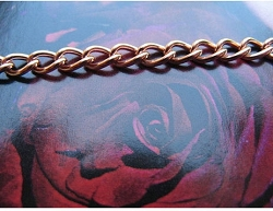 22 inch Length Solid Copper Chain CN609G- 1/8 of an inch wide