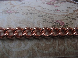 24 Inch Length Solid Copper Chain CN706G -  1/4 of an inch wide