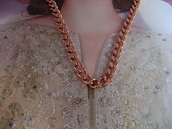 24 Inch Length Solid Copper Chain CN712G - 3/16 of an inch wide
