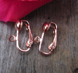 Copper clip on earring converters (1 pair)