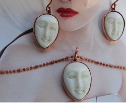 Copper Earring and Pendant Set 331AF