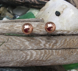 Copper 5mm Stud Earrings CE1065D01