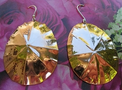 Solid Copper Earrings  CE1186E - 2 Inches long.