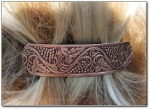Copper Hair Barrette #4645C2