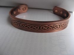 Men's 8 Inch Solid Copper Magnetic Cuff Bracelet CBM229-  1/2 an inch wide.