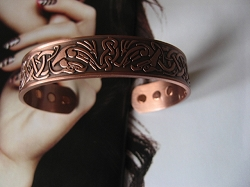 Ladies 8 Inch Solid Copper Magnetic Cuff Bracelet CBM230 - 5/8 of an inch wide.