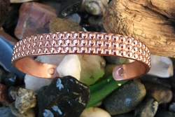 Men's 8 Inch Solid Copper Magnetic Cuff Bracelet CBM 801 -  3/8 of an inch wide .