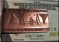 Copper Money Clip 6474C