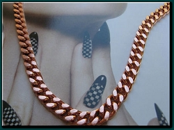 24  inch Length Solid Copper Chain CN651G - 1/4 of an inch wide