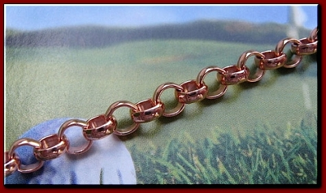 22 Inch Length Solid Copper Chain CN685G -  3/16 of an inch wide