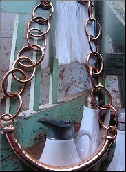 18 Inch Length Solid Copper Chain CN975E - 7/8 of an inch wide