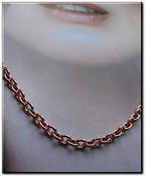 22 Inch Length Solid Copper Chain CN615G - 1/8 of an inch wide