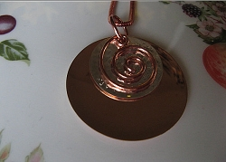 Copper Pendant and Chain Set #78E