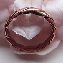 Copper Ring CR014- Size 9 - 1/8 of an inch wide.