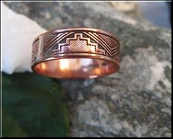 Copper Ring CR062 - Size 8 - 1/4 of an inch wide.