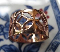 Copper Ring CR2028 - Size 9 - 3/8 of an inch wide.