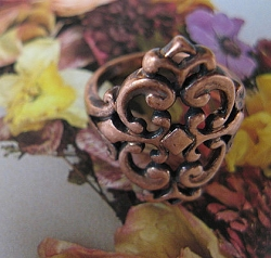 Copper Ring CR2592 Size 8 - 3/4 of an inch long.