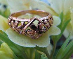 Copper Ring CR2609 Size 8 - 3/8 of an inch wide.