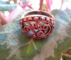 Copper  Ring CR2804 - Size 8 - 9/16 of an inch wide.