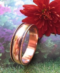 Copper Ring CR052 - Size 8 -  1/4 of an inch wide.
