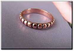 Copper Ring CR064 - Size  8 - 1/8 of an inch wide.