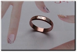 Copper Ring CR066 - Size 9-  1/8 of an inch wide.