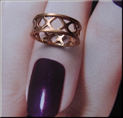 Copper Ring CR2029 - Size 9 - 1/4 of an inch wide.