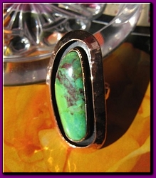 Copper Ring CR1278E- Size 6 - 1 1/8 of an inch wide.