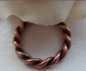 Copper Ring CR0139C2 - Size 5 - 1/8 of an inch wide.