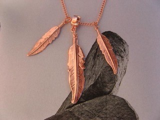 Copper Pendant and Chain Set #202DNA
