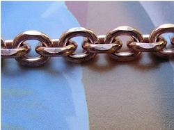Solid Copper Anklet CA603G - 1/4 of an inch wide - Available in 8 to 12 inch lengths