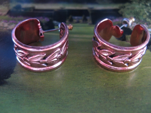 Solid Copper Hoop Earrings CE205DO- 3/4 of an inch in diameter