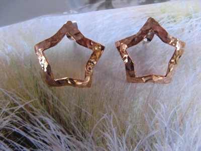 Copper Earrings CE100AR-L  -  7/8 of an inch wide.