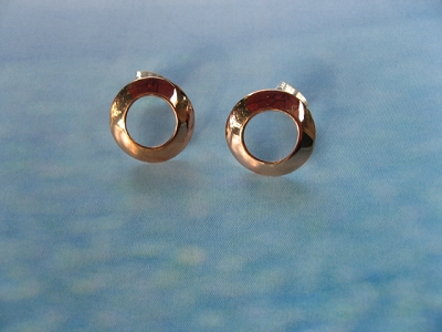 Copper Earrings CE101AR -  1/2 inch round.