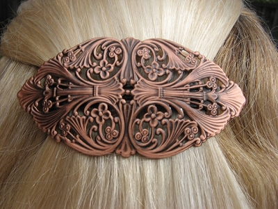 Copper Hair Barrette #4049C