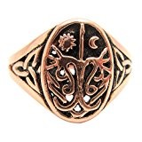 Solid copper ring size 8 - CTR3688 - 1/2 an inch wide