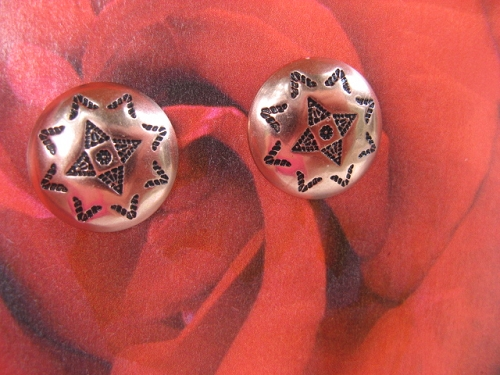 Copper Stud Earrings CE5949CO- 1/2 an inch round