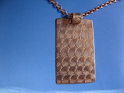 Copper Pendant and Chain Set #626AR