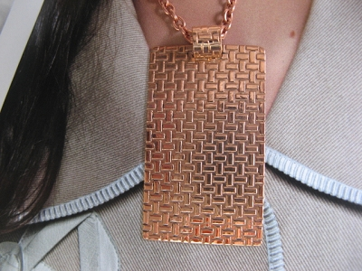 Copper Pendant and Chain Set #627AR