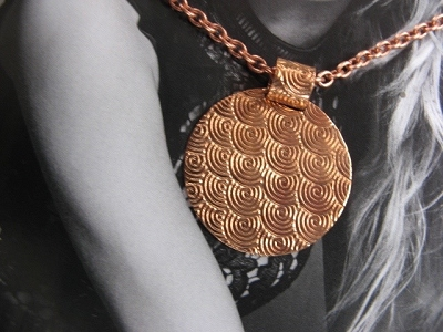 Copper Pendant and Chain Set #628AR