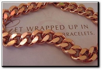 22 Inch Length Solid Copper Chain CN670G - 7/16 of an inch wide